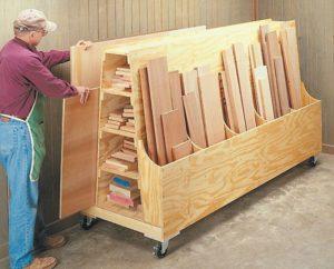 Methods of storing wood